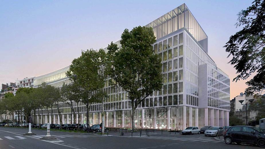 Ensemble de bureaux rue de l'Amiral Bruix Paris
