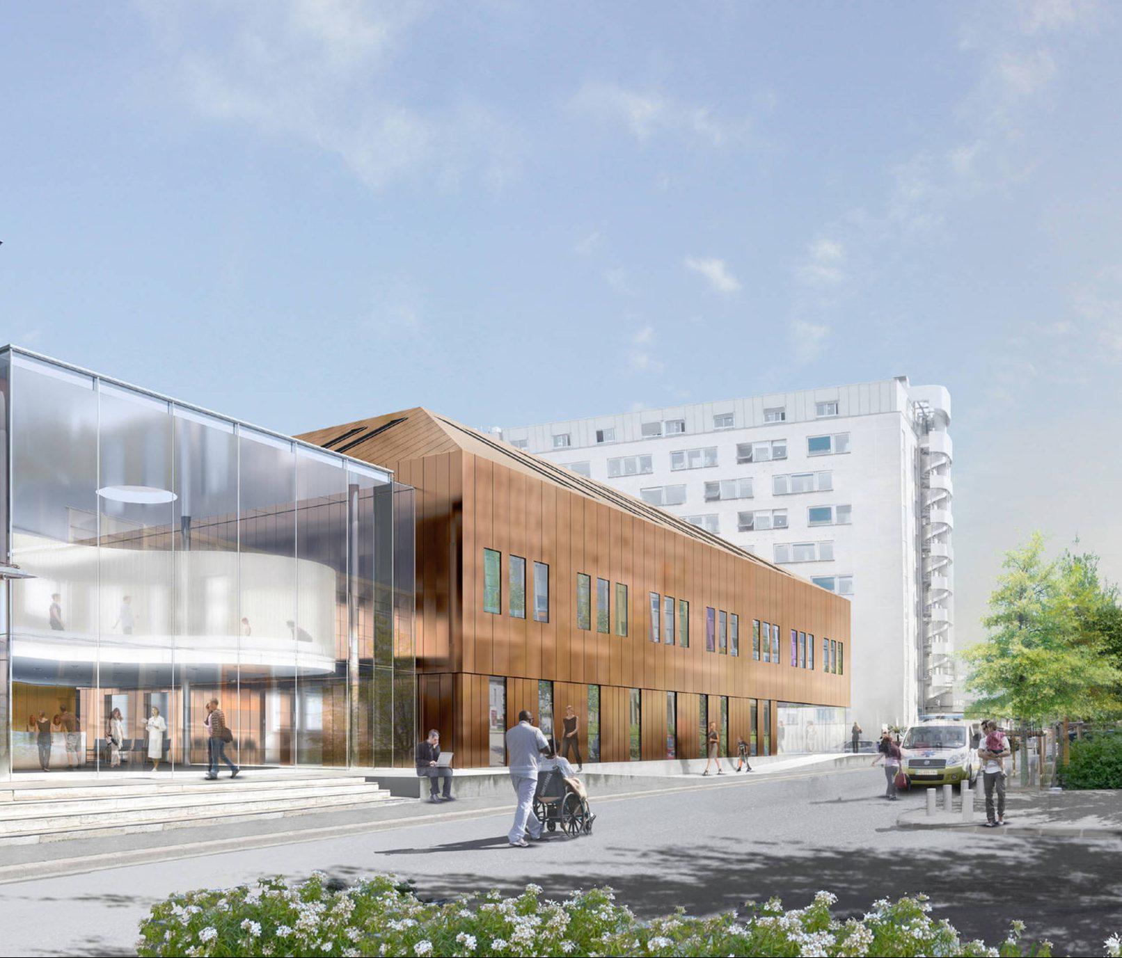 Bâtiment Périnatalogie et Pédiatrie Hôpital Cochin Paris