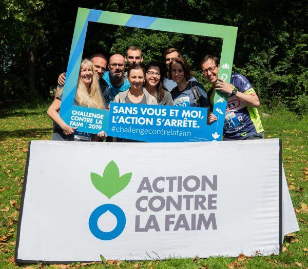 L'équipe BTP Consultants de Lille lors du Challenge Contre La Faim au bénéfice de l'association Action Contre La Faim.