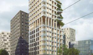 La tour commune en bois