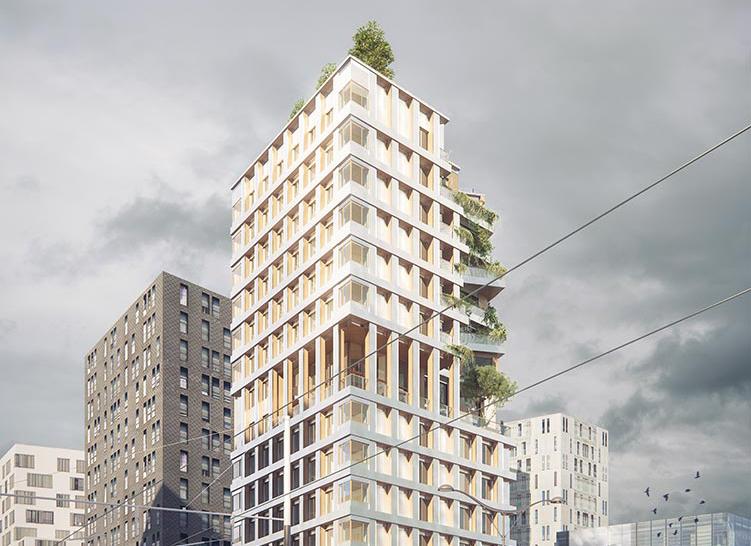 La tour commune tour en bois de 50m Paris